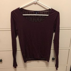 Maroon Top with a patterned back
